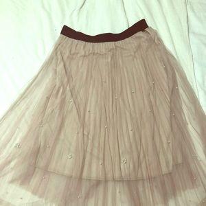 Dresses & Skirts - Beautiful tea length pleated tule skirt sz XL